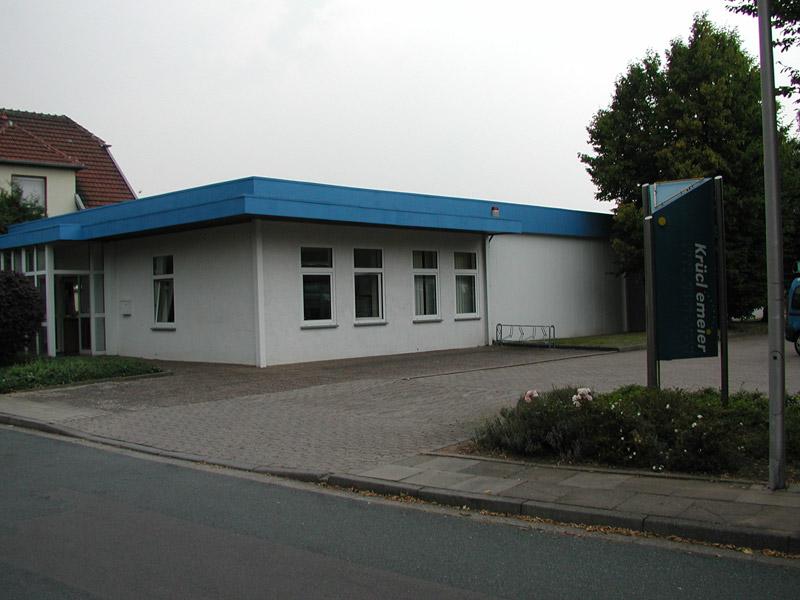 Das Betriebsgebäude vor der Erweiterung